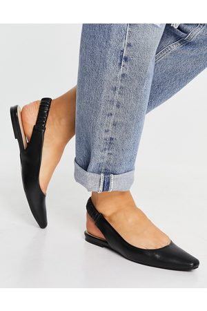 Schuh Lettie sling back flat shoes in black