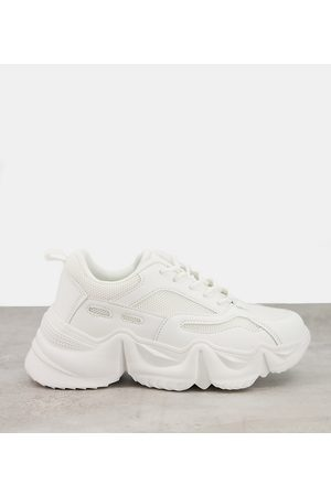 Public Desire Mujer Tenis - Chunky trainers in white