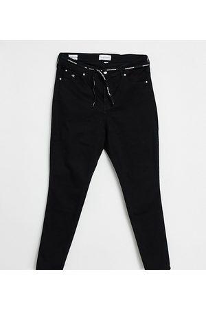 Calvin Klein High rise skinny jeans in rinsed black