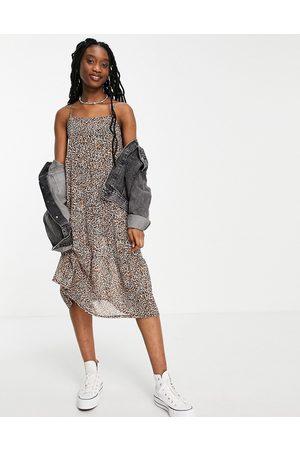 Influence Maxi dress in leopard