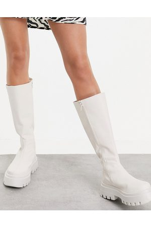 ASOS Cora chunky knee boots in off