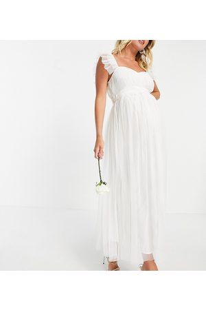 ANAYA Anaya With Love Maternity tulle midaxi dress in white
