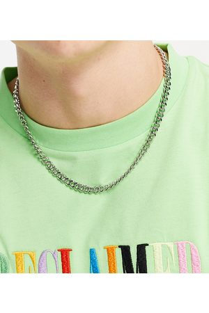Reclaimed Vintage Inspired t bar chain necklace in silver