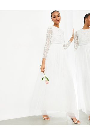 ASOS Fleur embellished crop top wedding dress