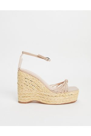 SIMMI Shoes Simmi London Halima chunky strap wedge sandals in brown
