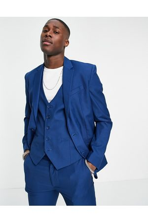 New Look Skinny suit jacket in bright blue