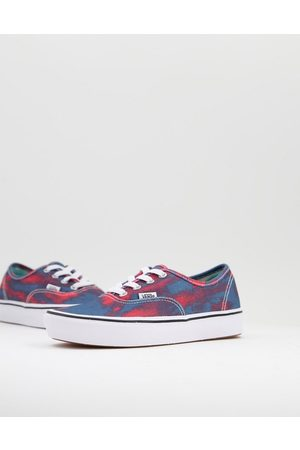Vans Mujer Tenis - ComfyCush Authentic In Bloom trainers in blue/red
