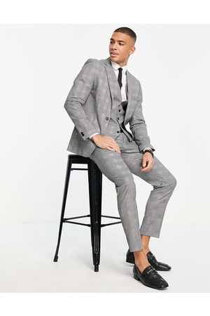 RUDIE Skinny fit prince of wales check suit trousers