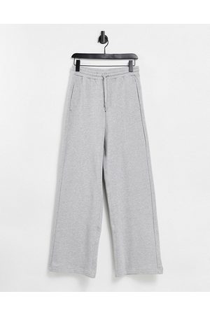 & OTHER STORIES Organic cotton wide leg jogger in grey