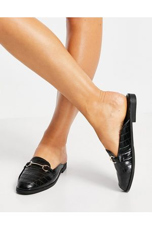 Schuh Lauryn backless loafers in black