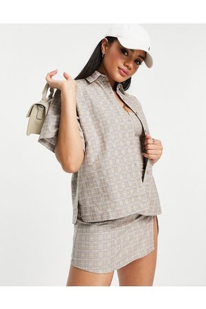 Motel Oversized shirt in check co