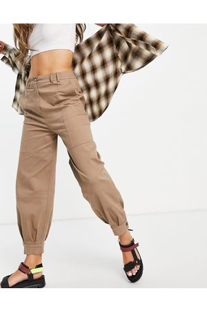 SELECTED Femme cuffed trousers in