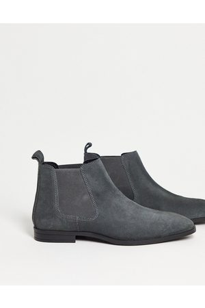 ASOS Chelsea boots in grey suede with black sole