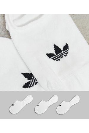 adidas Adicolor Trefoil 3 pack no show socks in white