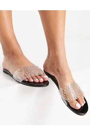 Ego Mujer Sandalias - Stunning clear mule sandals in black