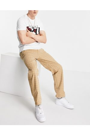 Tommy Hilfiger Skater straight fit tonal houndstooth print trousers in khaki