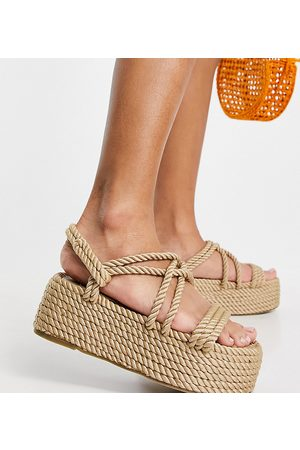 Raid Tinly flatform rope sandals in natural