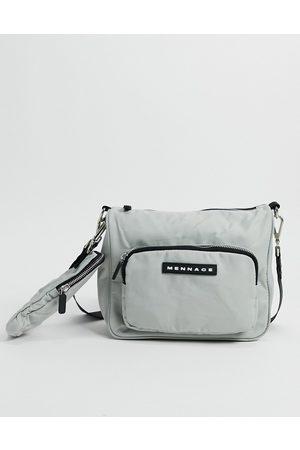 Mennace Nylon double hip bag in grey