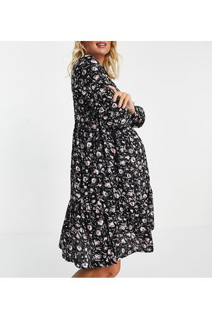 Mama Licious Mamalicious shirt dress in floral