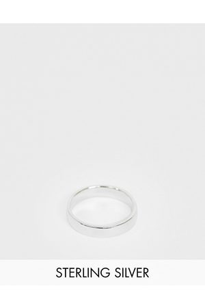 ASOS Sterling silver band ring in silver