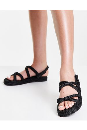 Raid Rosa rope sandals in black