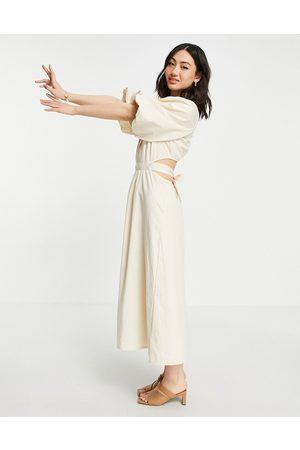 Pretty Lavish Mujer Casuales - Organic cotton cut out waist midi dress in