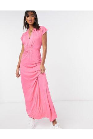 French Connection Mujer Casuales - Meadow v neck maxi dress in pink