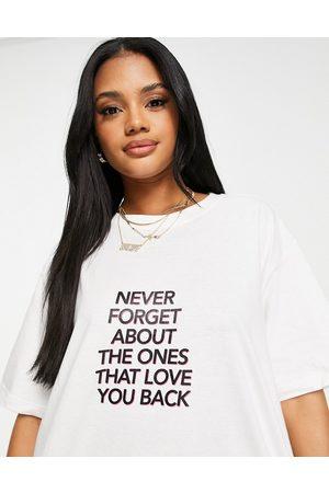 Night Addict Oversized slogan t
