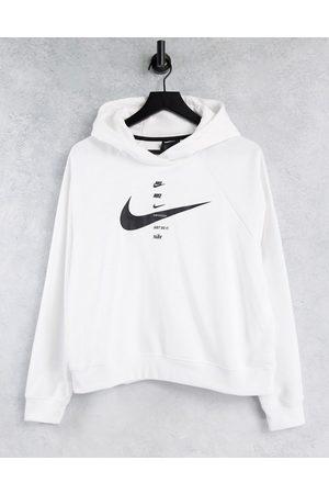 Nike Swoosh Logo Hoodie in white