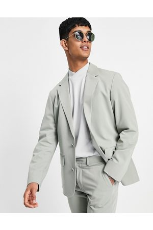 ASOS Soft tailored oversized suit jacket in olive herringbone