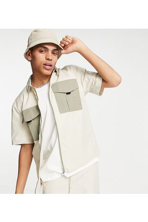 Reclaimed Inspired utility short sleeve dad fit shirt co ord