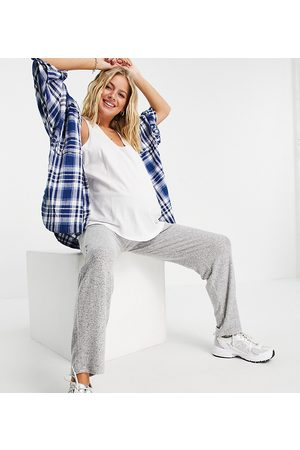 Lindex Exclusive over the bump lounge joggers in grey