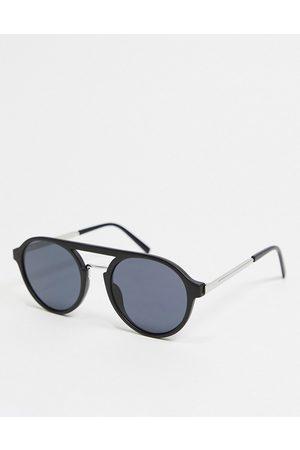 River Island Hombre Lentes de sol - Aviator sunglasses in black