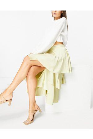 Pretty Lavish Ashton tiered midi skirt co