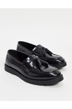 ASOS Tassel loafers in black leather
