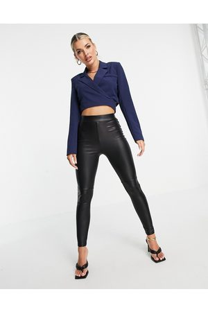 4th & Reckless Mujer Sacos - Cropped wrap around blazer in navy