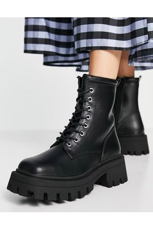 ASOS Mujer Botas y Botines - Avid extreme square toe lace up boots in black