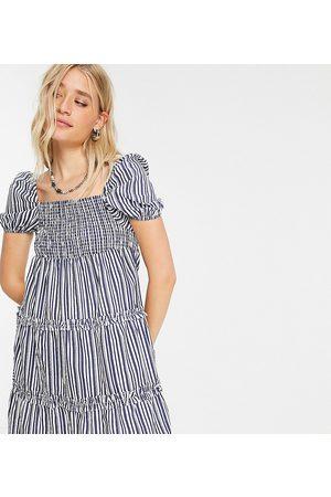 Influence Tiered mini dress in stripe