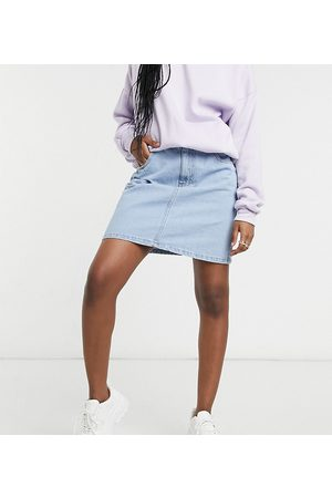 Wednesday's Girl Mini skirt in light wash denim