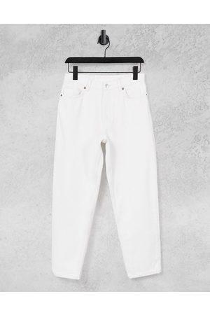 Monki Taiki organic cotton high waist mom jeans in off white