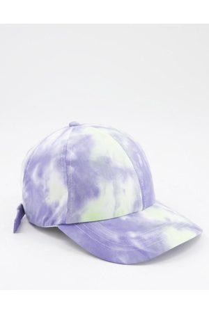 ASOS Hombre Gorras - Baseball cap in washed blue tie dye