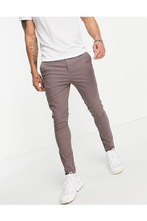 ASOS Power stretch chinos in brown