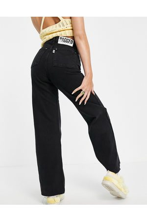 The Ragged Priest High waisted wide leg jeans in charcoal wash