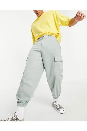 ASOS Oversized tapered trousers with cargo pockets