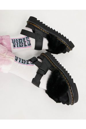 Dr. Martens Voss II Fluffy sandals in black