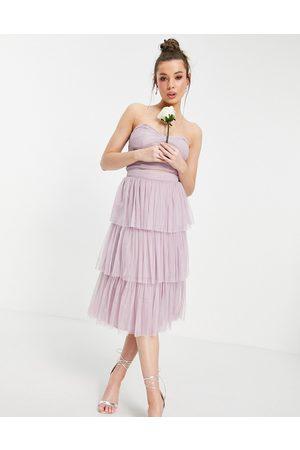 ANAYA With Love tiered ruffle midi skirt in lilac co