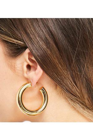 ASOS 14k gold plate hoop earrings in 50mm tube design