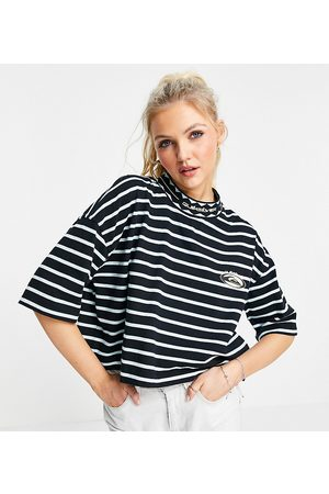 Quiksilver 90 cropped striped t