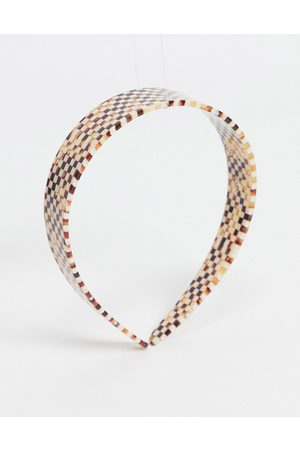ASOS Hairband in plastic checkerboard design
