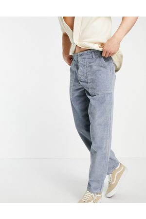 ASOS Hombre Chinos - Chunky cord trousers in balloon fit in grey